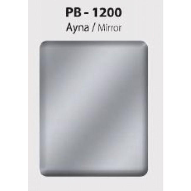 Beyaz Ayna Kompozit - Gümüş 125x320 cm.